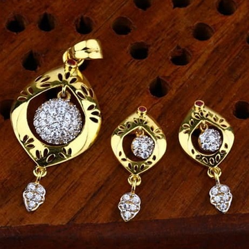 916 gold cz Pendant Set ps-0009