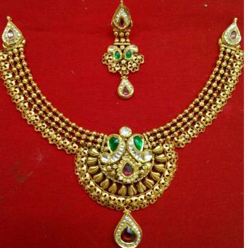 Antique Gold Ladies Fusion 916 Necklace Set