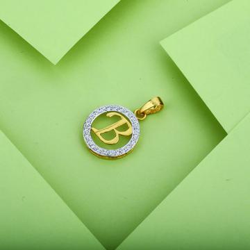 B Letter Gold Pendant-LP14