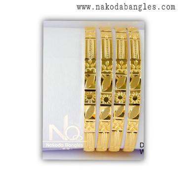 916 Gold CNC Bangles NB - 1373