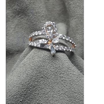 916 Gold Stylish Ring Design For Women SDJ-6541 by Shri Datta Jewel