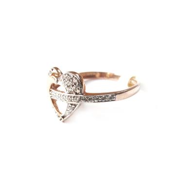18k rose gold heart shape ring mga - rgr0012