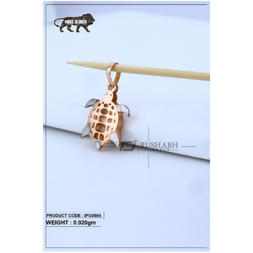 18 Carat Italian pendent rose gold turtles shape ipg0085