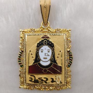 916 Gold Fancy Gent's Chehar Maa Pendant