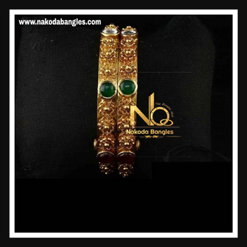 916 Gold Antique Bangles NB - 740