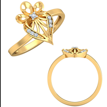 22KT Yellow Gold Cyprian Trinity Ring For Women