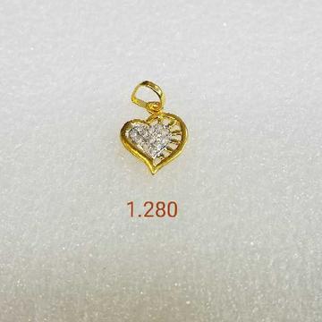 Heart Shape 18kt/750 Designer Gold Pendant
