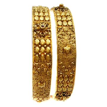 22k gold antique bangle kada mga - gp019