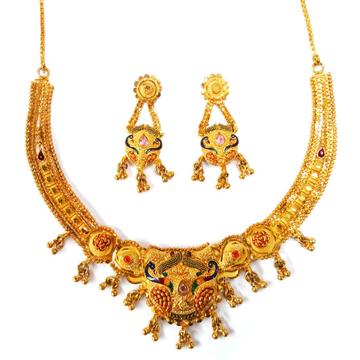 1 gram gold forming necklace set mga - gfn007
