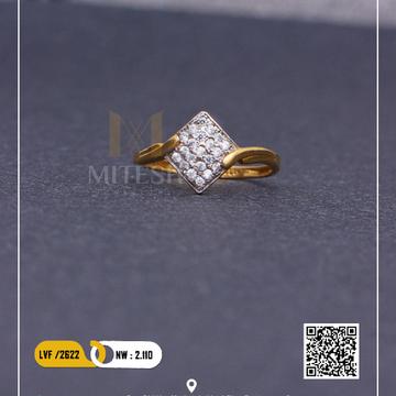 22k/916 CZ GOLD RING