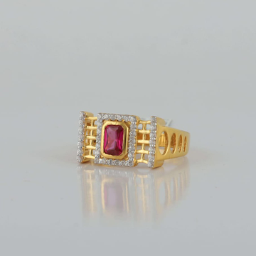 fancy Stone seeting ring by Aaj Gold Palace