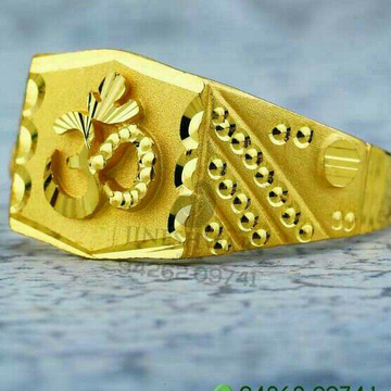 Om Gold Gents Ring 916
