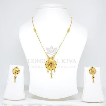 18kt gold pendant set gchp15 - gft29