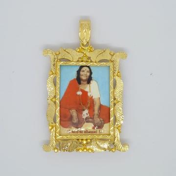 916 Gold Sonal Maa Photo Frame Pendant