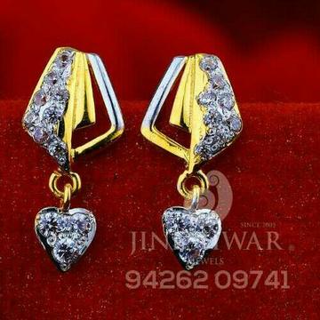 18kt Fancy Plain Cz Gold Ladies Tops ATG -0500