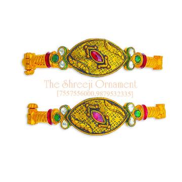 22KT Gold Designer Jadtar Copper Kadali - 0017