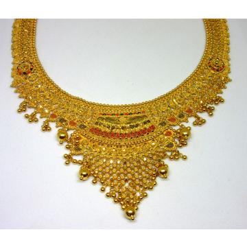 gold 22k hm916 culcutti short necklace set by