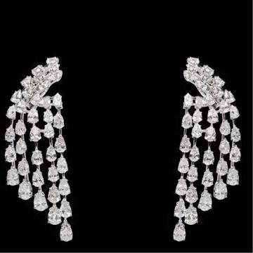 Diamonds Ear Hangings JSJ0012