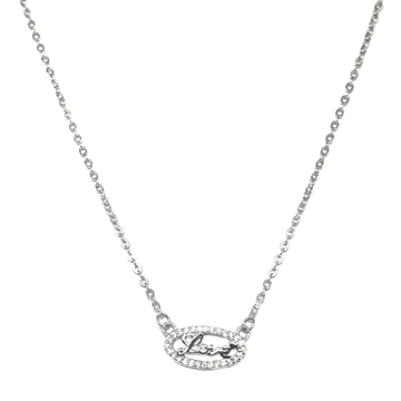 925 Sterling Silver Love Necklace MGA - NKS0011