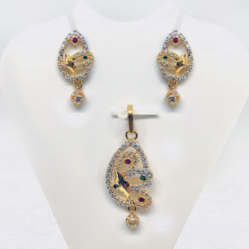 916 Gold CZ Pendant Set SK-PS002 by