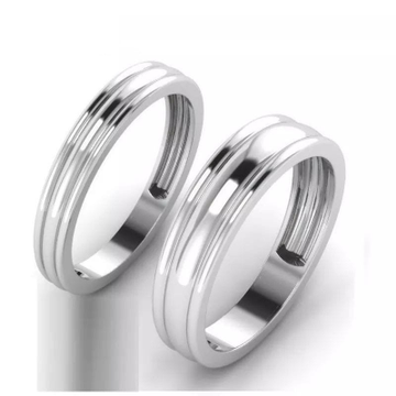 950 Platinum Theor Band Cople Ring For Unisex