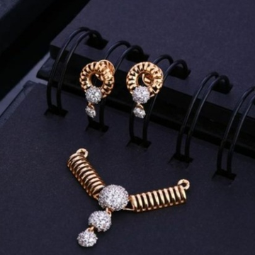 18 carat rose gold classical ladies pendants set RH-PS467