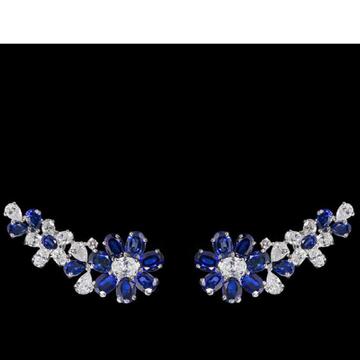 Diamonds and Blue Sapphires EarringsJSJ0132