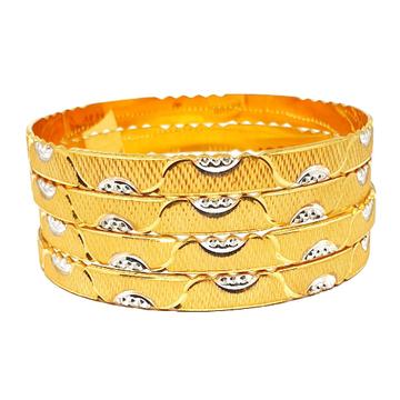 One gram gold forming leriya bangles mga - bge0271