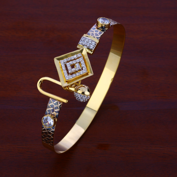 18ct cz women's stylish hallmark  kada bracelet lk...