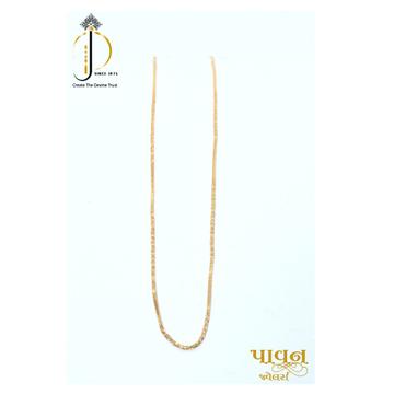 22KT / 916 Gold fancy Plain delicate chain for Ladies CHG0360