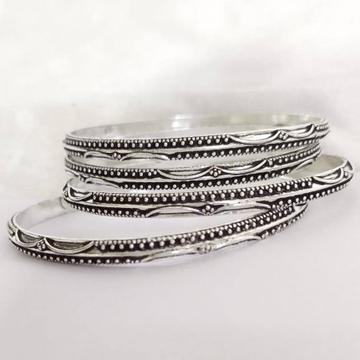 925 Pure Silver Antique Light Weight Chitayi Bangl...
