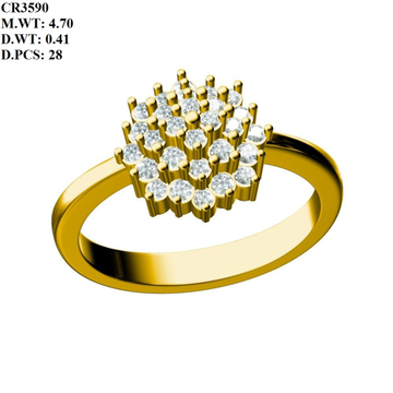 916 Gold Classic Ring For Women MK-R05 by