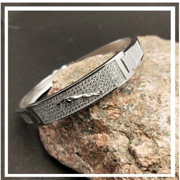 Silver gents classic bracelet