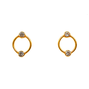 22K Gold Designer Earrings MGA - BTG0219
