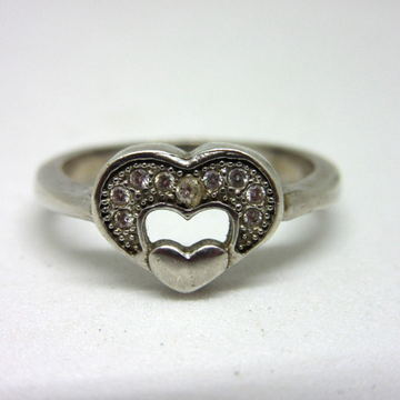 Silver 925 double heart ring sr925-120