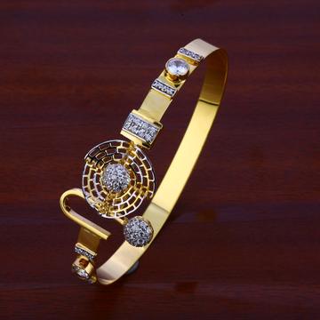 750 Gold CZ Ladies Designer Kada Bracelet LKB113