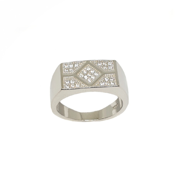 925 Sterling Silver Square Shaped Gents Ring MGA - GRS2191