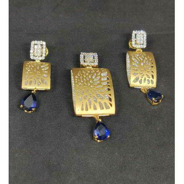 18k Ladies Fancy Heavy Pendant Set S-39517