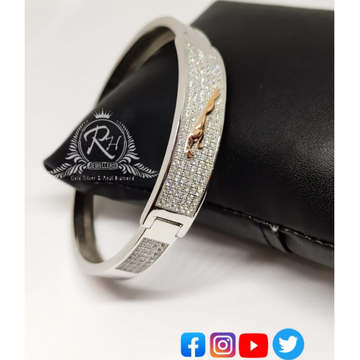silver jaguar daimond gents bracelet RH-GB310