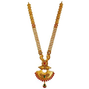22K Gold Antique Designer Necklace Set MGA - GLS0102