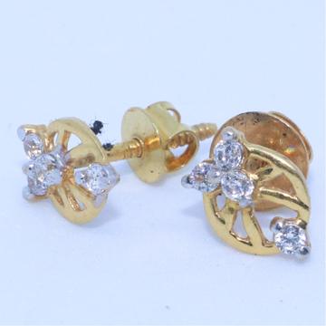 22KT / 916 Gold fancy CZ earring for Kids baby girls BTG0294