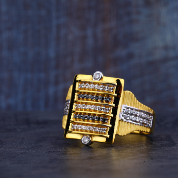 Mens Gold Fancy Ring-MR370