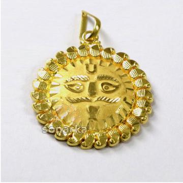 Fancy 22k Plain Gold Surya Sun Pendant