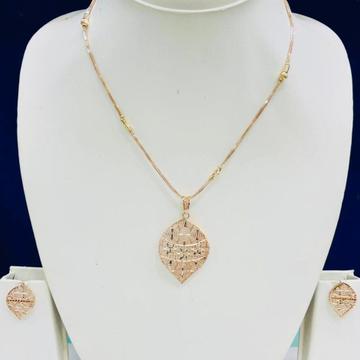 18KT Rose Gold Designer Pendant Set by