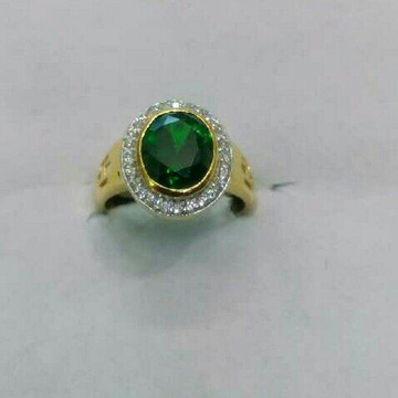 22K/916 Gold Single Stone Ring
