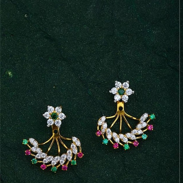 916 Gold CZ Folding earring RH-ER45