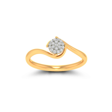 916 Gold CZ Attractive Ring For Women JK-LR003