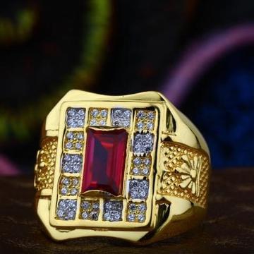 916 Gold king Rubi classic gents ring RH-JR45