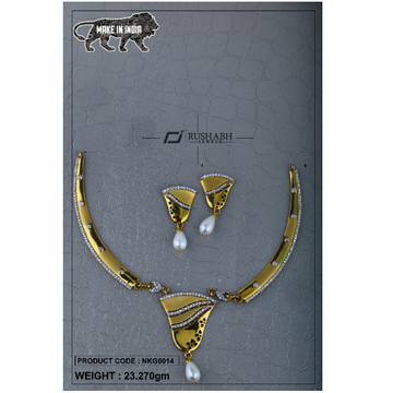 22 Carat 916 Gold Ladies Moti necklace nkg0014