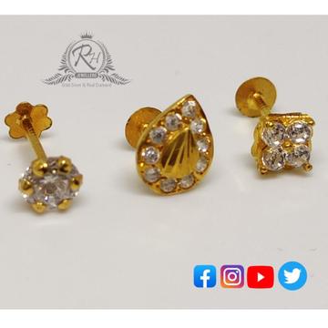 18 carat gold dimonds nose pins RH-NS208